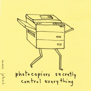 The photocopier has caused Camilla no end of problems.  (Photo by www.hrwebcafe.com)